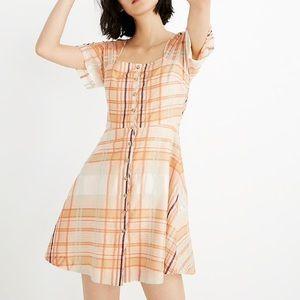 {Madewell} Shimmer Plaid Mini Dress! Size 4